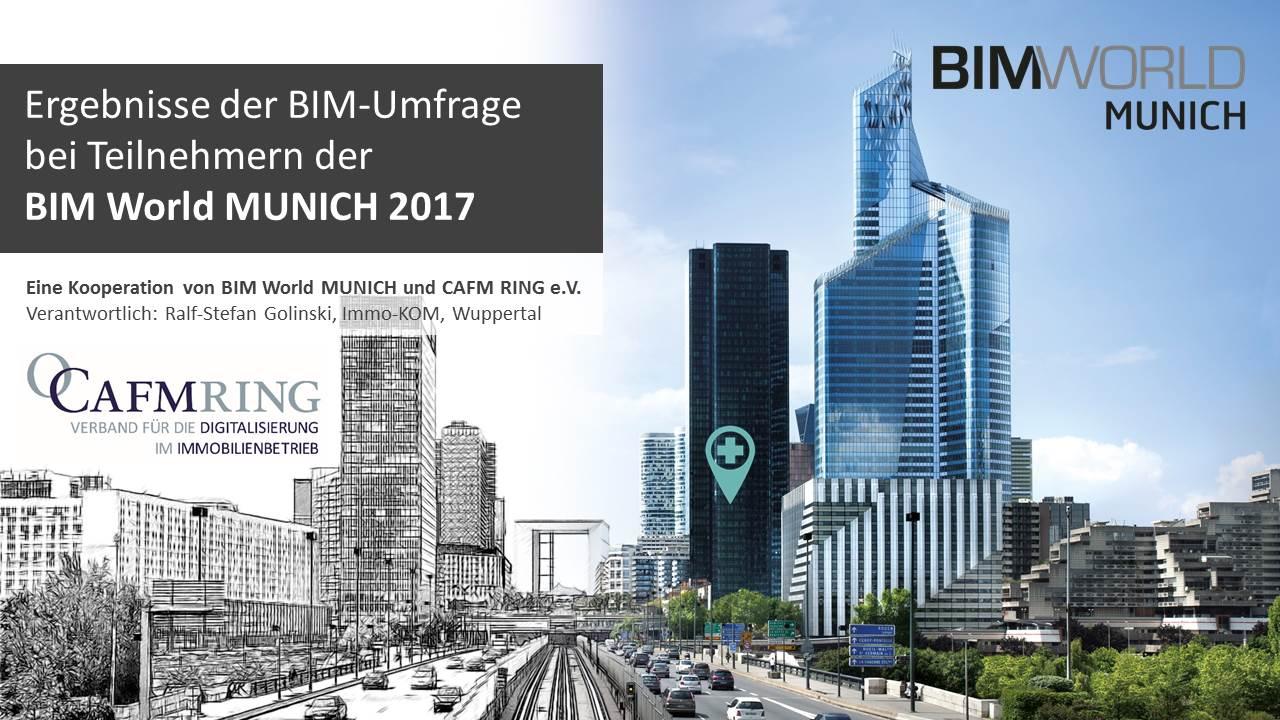 Die 2.BIM-Umfrage fand anlässlich der BIM WORLD Munich statt