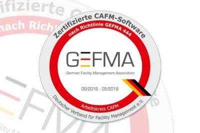 eTASK ist GEFMA 444 zertifiziert