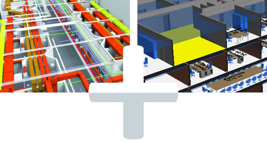 Zwei Welten vereint in eTASK: Komplexes BIM-Modell eines Neubaus mit TGA und Simple BIM-Modell eines Bestandsgebäudes