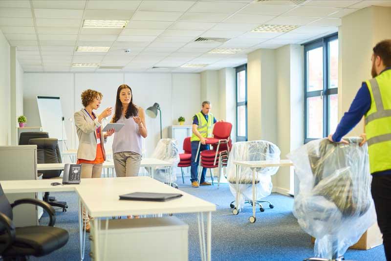 Büroumzüge planen und organiseren