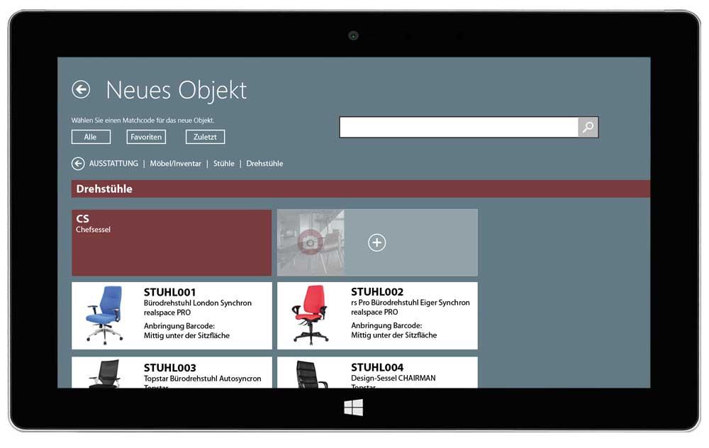 eTASK Inventur Software - Anlegen eines neuen Inventarobjekts