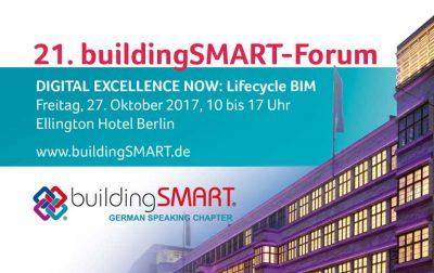 Beitragsbild zum 21. buildingSMART Forum am 27.10.2017 in Berlin